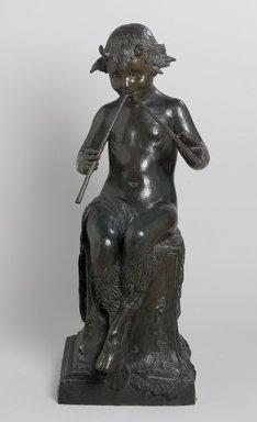Janet Scudder (American, 1873-1940). Seated Faun, 1924. Bronze, 38 x 14 3/8 x 18 1/4 in. (96.5 x 36.5 x 46.4 cm). Brooklyn Museum, Robert B. Woodward Memorial Fund, 26.184