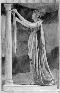 John La Farge (American, 1835-1910). Design for the Felton Window. Watercolor Brooklyn Museum, Museum Surplus Fund, 26.433