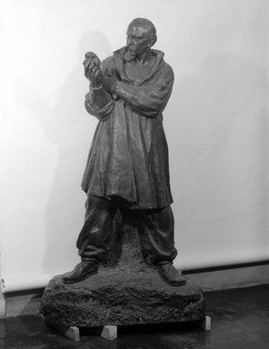 Malvina Hoffman (American, 1885-1966). Ivan Mestrovic, 1925. Bronze, 86 5/8 x 42 1/8 x 31 1/2 in. (220 x 107 x 80 cm). Brooklyn Museum, Gift of Felix M. Warburg and  Edward C. Blum, 26.519. © Estate of Malvina Hoffman