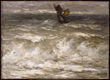 Hendrik Willem Mesdag (Dutch, 1831-1915). In Danger, ca. 1895. Oil on canvas, 35 13/16 x 49 7/16 in. (91 x 125.6 cm). Brooklyn Museum, Gift of Mrs. James Quinlan in memory of her husband, 26.604