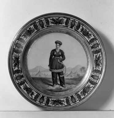 Plate, ca. 1840. Porcelain, 1 1/4 x 9 1/4 in. (3.2 x 23.5 cm). Brooklyn Museum, Bequest of Reverend Alfred Duane Pell, 26.820.5. Creative Commons-BY