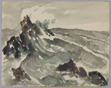 William Sanger (American, 1875-1961). Surf, 20th century. Watercolor, 1/8 x 3/16 in. (0.4 x 0.5 cm). Brooklyn Museum, Gift of Frances King, 27.118. © Estate of William Sanger
