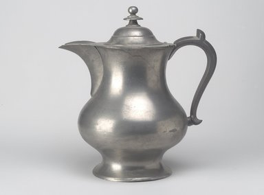 Roswell Gleason. Coffee Pot, ca. 1830. Pewter, 10 7/8 x 10 x 7 1/8 in. (27.6 x 25.4 x 18.1 cm). Brooklyn Museum, Gift of Mrs. Samuel Doughty, 27.532. Creative Commons-BY