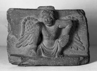 Buddhist. Small Bas-relief of an Atlantis, late 2nd-3rd century. Slate, 6 5/16 x 1 15/16 x 8 1/4 in. (16 x 5 x 21 cm). Brooklyn Museum, Gift of Frederic B. Pratt, 27.63. Creative Commons-BY