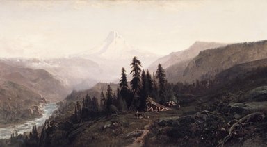 William Keith (American, 1838-1911). Mount Hood, Oregon, ca. 1881-1883. Oil on canvas, 40 1/4 x 72 1/16 in. (102.2 x 183 cm). Brooklyn Museum, Bequest of Mrs. Charles S. Cooke, 27.800