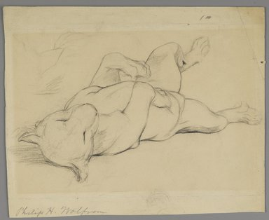 Philip H. Wolfrom (American, 1870-1904). Sleeping Lioness, n.d. Graphite on paper, Sheet: 8 13/16 x 10 11/16 in. (22.4 x 27.1 cm). Brooklyn Museum, Gift of Anna Wolfrom Dove, 27.826