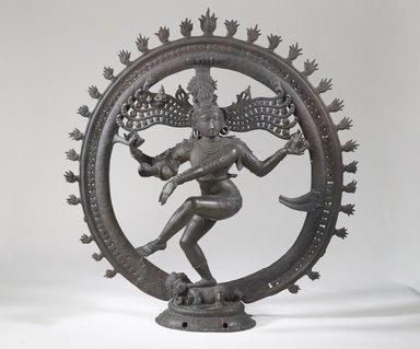Shiva Nataraja, 18th century. Bronze, 30 x 28 3/4 x 8 1/4 in. (76.2 x 73 x 21 cm). Brooklyn Museum, Gift of Frank L. Babbott, 27.959. Creative Commons-BY