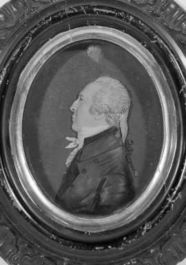 John Christian Rauschner (American, born Germany, 1760-1812). Jonathan Waldo IV, before 1804. Colored wax mounted on wood, Image (sight): 4 1/8 x 3 5/16 in. (10.5 x 8.4 cm). Brooklyn Museum, Bequest of Sarah E. Waldo, 27.975. Creative Commons-BY