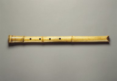 Flute (Shakuhachi?), 19th century. Bamboo, lacquer, 1 9/16 x 24 3/4 in. (4 x 62.9 cm). Brooklyn Museum, Gift of Mrs. Allan Cowperthwait, 27028. Creative Commons-BY