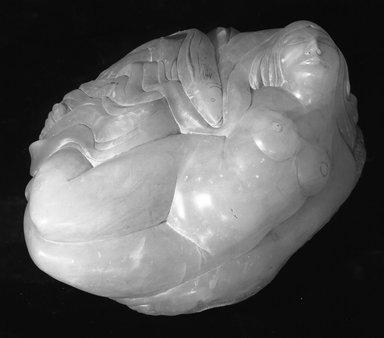Robert Laurent (American, born France, 1890-1970). The Wave, 1926. Alabaster, 13 1/2 x 24 1/2 x 20 in. (34.3 x 62.2 x 50.8 cm). Brooklyn Museum, Caroline H. Polhemus Fund, 28.275. © Estate of Robert Laurent