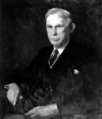 Stephen Douglas Volk (American, 1856-1935). Frank L. Babbott, 1925. Oil on canvas, 34 1/16 x 29 in. (86.5 x 73.7 cm). Brooklyn Museum, Gift of Mrs. William Sargent Ladd, Mrs. S. Emlen Stokes, Mrs. Ian McDonald, and Dr. Frank L. Babbott, Jr., 28.292