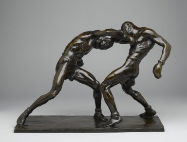 Mahonri M. Young (American, 1877-1957). Right to the Jaw, 1926. Bronze, 14 1/2 x 20 1/2 x 9 in. (36.8 x 52.1 x 22.9 cm). Brooklyn Museum, Robert B. Woodward Memorial Fund, 28.422