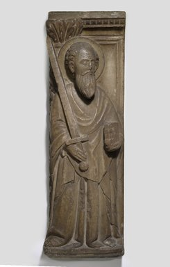 Relief of St. Paul, 13th century. Marble, 33 7/16 x 6 7/8 in. (85 x 17.5 cm). Brooklyn Museum, Gift of Mrs. Alfred S. Rossin, 28.539. Creative Commons-BY