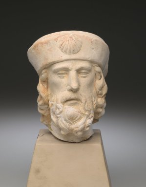 Unknown. Head of St. James the Elder, 15th century (possibly). Limestone, 9 x 5 x 5 in. (22.9 x 12.7 x 12.7 cm). Brooklyn Museum, Museum Collection Fund, 28.540. Creative Commons-BY