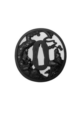 Sword Guard, 19th century. Iron, 2 15/16 x 2 13/16 x 3/16 in. (7.4 x 7.2 x 0.4 cm). Brooklyn Museum, Gift of F. Ethel Wickham, 28.599. Creative Commons-BY