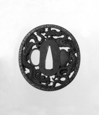 Sword Guard, 18th century. Iron, gold, 2 15/16 x 2 3/4 x 3/16 in. (7.5 x 7 x 0.4 cm). Brooklyn Museum, Gift of F. Ethel Wickham, 28.639. Creative Commons-BY