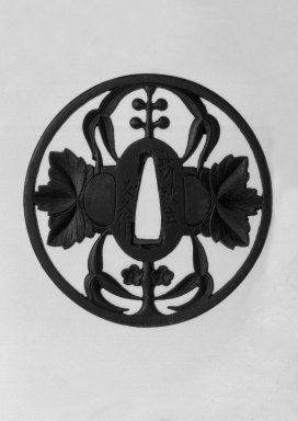 Nagato. Sword Guard, 18th century. Iron, 3/16 x 3 5/16 in. (0.4 x 8.4 cm). Brooklyn Museum, Gift of F. Ethel Wickham, 28.651. Creative Commons-BY