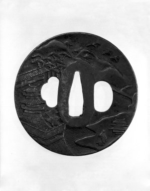 Nagato. Sword Guard, 18th century. Iron, 3/16 x 3 in. (0.4 x 7.6 cm). Brooklyn Museum, Gift of F. Ethel Wickham, 28.655. Creative Commons-BY