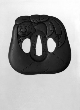 Nara Prefectural Museum of Art. Sword Guard, 19th century. Chiseled copper with gold-inlaid eyes, 3 1/4 x 3/16 x 3 1/8 in. (8.2 x 0.4 x 8 cm). Brooklyn Museum, Gift of F. Ethel Wickham, 28.659. Creative Commons-BY