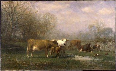 James McDougal Hart (American, born Scotland, 1828-1901). Midsummer, 1870. Oil on canvas, 22 x 36 in. (55.9 x 91.4 cm). Brooklyn Museum, Gift of Mrs. Willard H. Platt, 28.6