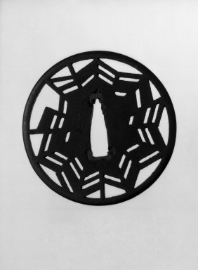 Sword Guard, 17th century. Iron, 1/8 x 2 15/16 in. (0.3 x 7.5 cm). Brooklyn Museum, Gift of F. Ethel Wickham, 28.714. Creative Commons-BY