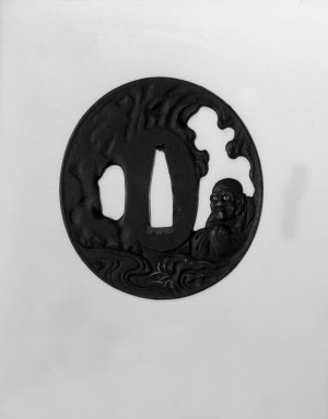 Sword Guard, 19th century. Iron, gold; copper sekigane, 2 3/4 x 2 9/16 x 3/16 in. (7 x 6.5 x 0.4 cm). Brooklyn Museum, Gift of F. Ethel Wickham, 28.725. Creative Commons-BY