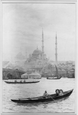 Tristram J. Ellis (British, 1844-1922). Constantinople, 1887. Watercolor, 21 x 14 in.  (53.3 x 35.6 cm). Brooklyn Museum, Bequest of Mary A. Brackett, 28.76