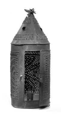 American. Lantern for Candle, ca. 1800-1825. Tin, Height: 13 in. (33 cm). Brooklyn Museum, Gift of May Gelston, 28.771. Creative Commons-BY