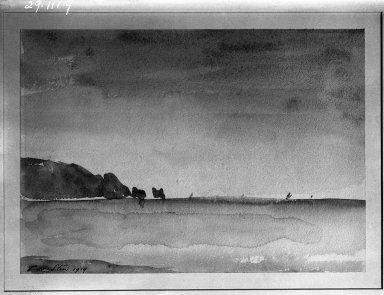 Philip Wilson Steer (British, 1860-1942). The Needles, 1919. Watercolor, Sheet: 9 1/2 x 13 1/4 in. (24.1 x 33.7 cm). Brooklyn Museum, Gift of Frank L. Babbott, 29.1119