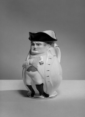 Napoleon Jug, 1895. Porcelain, belleek ware., 9 3/4 x 4 1/2 (of base) in. (24.8 x 11.4 cm). Brooklyn Museum, Bequest of Dr. Marion Reilly, 29.122. Creative Commons-BY
