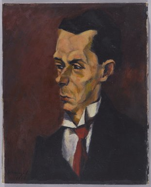 Lajos Tihanyi (Hungarian, 1885-1938). The Critic, 1916. Oil on canvas, 20 1/8 x 16 3/8 in. (51.1 x 41.6 cm). Brooklyn Museum, Gift of the Right Reverend John Torok, D.D., 29.1302
