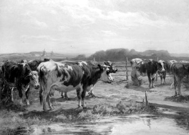 William  Henry Howe (American, 1846-1929). Milking Time in Holland, ca. 1902. Oil on canvas, 34 5/16 x 46 9/16 in. (87.2 x 118.3 cm). Brooklyn Museum, Gift of Mrs. William H. Howe in memory of her husband, William H. Howe, 29.1306