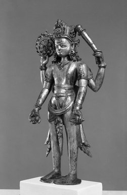 Standing Figure of Vishnu, 10th century. Gilt bronze (high copper content), 9 11/16 in. (24.6 cm). Brooklyn Museum, Gift of Frederic B. Pratt, 29.18. Creative Commons-BY