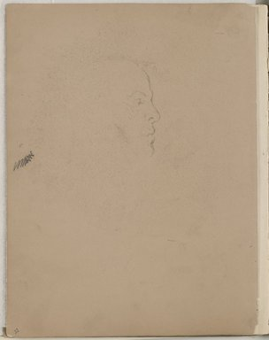 William Merritt Chase (American, 1849-1916). Sketchbook, 1872. Graphite and black, red and white Conté crayon on cream and tan medium-weight, slightly textured wove paper, 11 7/8 x 9 7/16 x 11/16 in. (30.2 x 24 x 1.7 cm). Brooklyn Museum, Gift of Newhouse Galleries, Inc., 29.27.11