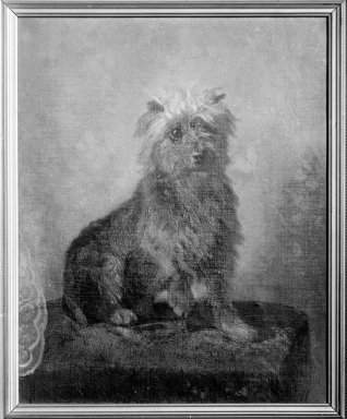 Abbott H. Thayer (American, 1849-1921). Chadwick's Dog, 1874. Oil on canvas, 20 1/2 x 16 9/16 in. (52 x 42 cm). Brooklyn Museum, Gift of Mrs. John White Chadwick, 29.62