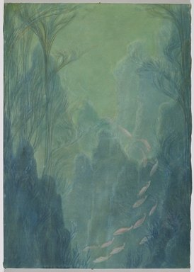Zarh H. Pritchard. Bream in 25 Feet of Water Off the West Coast of Scotland, 1910. Pastel, Image: 23 5/16 x 16 9/16 in. (59.2 x 42 cm). Brooklyn Museum, Anonymous gift, 30.1147