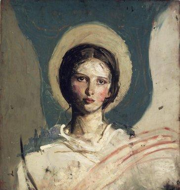 Abbott H. Thayer (American, 1849-1921). Head of a Boy (Recto) and Head of a Girl (Verso), ca. 1918-1919. Oil on board, 25 13/16 x 24 in. (65.5 x 61 cm). Brooklyn Museum, John B. Woodward Memorial Fund, 30.1149a-b