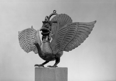 Lamp in the Form of the Mythical Garuda Bird, 19th century. Brass, approximate: 20 7/8 x 39 3/4 in. (53 x 101 cm). Brooklyn Museum, Alfred T. White Fund, 30.1171. Creative Commons-BY