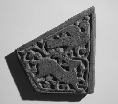 Small Trapezium Shaped Panel, 11th century. Wood, 5 1/2 x 1/2 x 6 5/8 in. (14 x 1.2 x 16.8 cm). Brooklyn Museum, Gift of Ruth Fisher Costantino through Mrs. Frederic B. Pratt, 30.1177. Creative Commons-BY