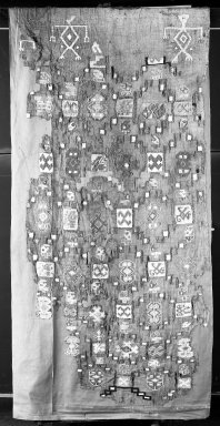 Nasca. Large Sampler. Cotton, 98 1/16 x 33 1/16 in. (249 x 84 cm). Brooklyn Museum, Gift of George D. Pratt, 30.1186. Creative Commons-BY
