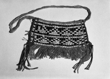 Makushi-Monaiko. Secondary Apron. Blue and white beads Brooklyn Museum, Museum Expedition 1930, Robert B. Woodward Memorial Fund and the Museum Collection Fund, 30.1356. Creative Commons-BY