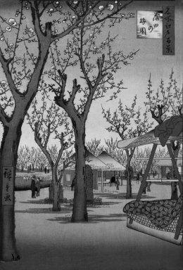 Utagawa Hiroshige (Ando) (Japanese, 1797-1858). Plum Garden, Kamata (Kamata no Umezono), No. 27 from One Hundred Famous Views of Edo, 2nd month of1857. Woodblock print, Image: 13 3/8 x 9 in. (34 x 22.9 cm). Brooklyn Museum, Gift of Anna Ferris, 30.1478.27
