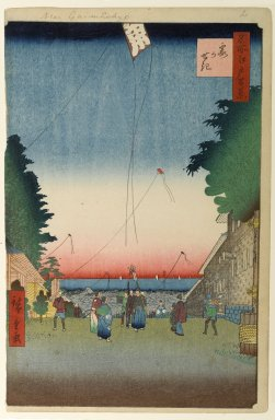Utagawa Hiroshige (Ando) (Japanese, 1797-1858). Kasumigaseki, No. 2 in One Hundred Famous Views of Edo, 1st month of 1857. Woodblock print, Image: 13 1/2 x 8 3/4 in. (34.3 x 22.2 cm). Brooklyn Museum, Gift of Anna Ferris, 30.1478.2