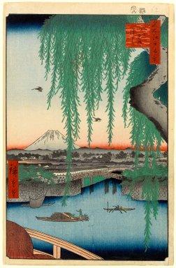 Utagawa Hiroshige (Ando) (Japanese, 1797-1858). Yatsumi Bridge, No. 45 from One Hundred Famous Views of Edo, 8th month of 1856. Woodblock print, 14 3/16 x 9 3/16in. (36 x 23.3cm). Brooklyn Museum, Gift of Anna Ferris, 30.1478.45