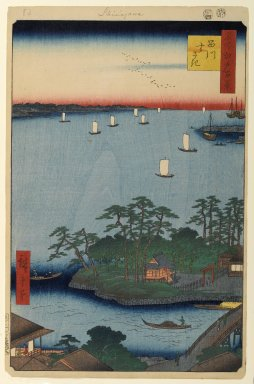 Utagawa Hiroshige (Ando) (Japanese, 1797-1858). Shinagawa Susaki, No. 83 from One Hundred Famous Views of Edo, 8th month of 1857. Woodblock print, Sheet: 14 3/16 x 9 1/4 in. (36 x 23.5 cm). Brooklyn Museum, Gift of Anna Ferris, 30.1478.83