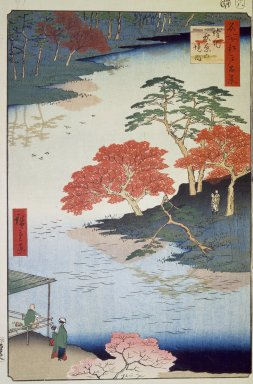 Utagawa Hiroshige (Ando) (Japanese, 1797-1858). Inside Akiba Shrine, Ukeji, No. 91 from One Hundred Famous Views of Edo, 8th month of 1857. Woodblock print, Sheet: 14 3/16 x 9 1/4 in. (36 x 23.5 cm). Brooklyn Museum, Gift of Anna Ferris, 30.1478.91