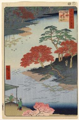 Utagawa Hiroshige (Ando) (Japanese, 1797-1858). Inside Akiba Shrine, Ukeji, No. 91 from One Hundred Famous Views of Edo, 8th month of 1857. Woodblock print, Sheet: 14 3/16 x 9 1/4 in. (36 x 23.5 cm). Brooklyn Museum, Gift of Anna Ferris, 30.1478.91