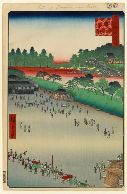 Brooklyn Museum: Yatsukoji, Inside Sujikai Gate, No. 9 in One Hundred Famous Views of Edo