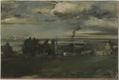 Walter Shirlaw (American, 1838-1909). Lake Superior, ca. 1890. Oil on board, 12 1/4 x 18 7/16 in. (31.1 x 46.9 cm). Brooklyn Museum, Gift of Mrs. Horace Williston, 30.18