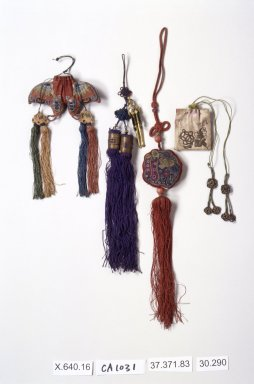 Pouch for Incense, 20th century. Silk, 11 1/4 in. (28.6 cm). Brooklyn Museum, Estate of Stewart Culin, Museum Purchase, 30.290. Creative Commons-BY